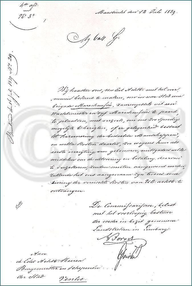 12 juli 1839 (Limburgse Gewesten)