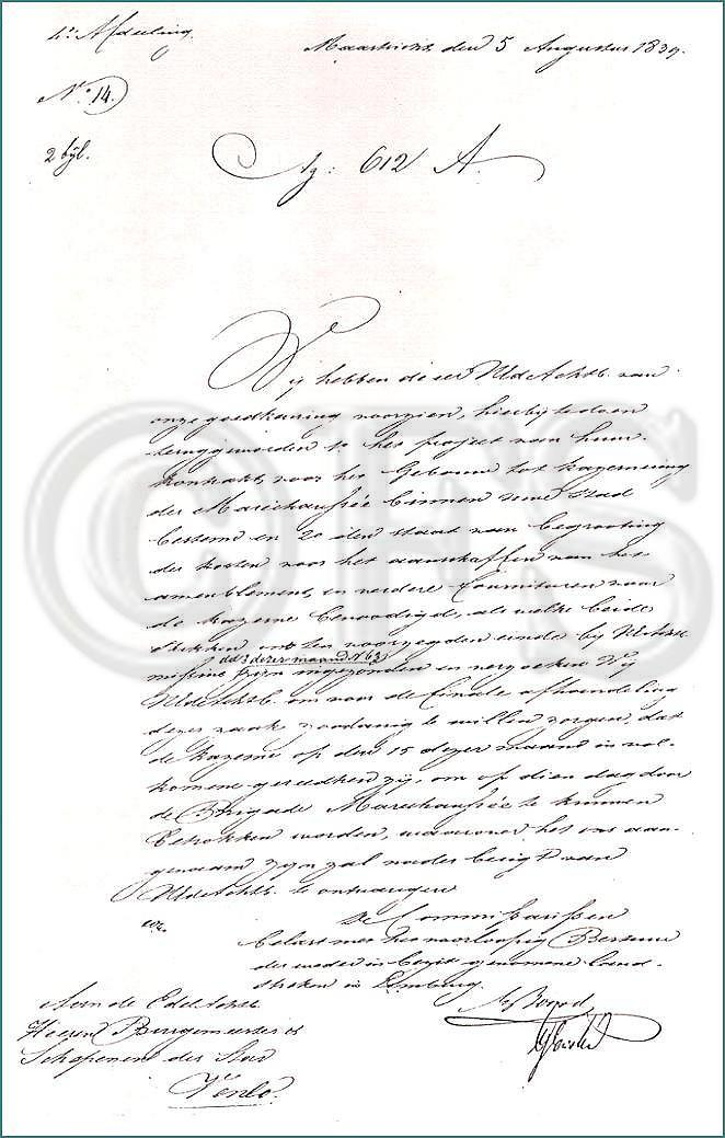 Ambtsbrief van 5 augustus 1839 (Limburgse Gewesten)