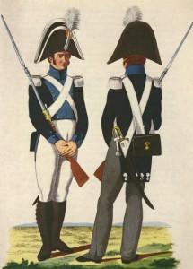 Marechaussee te voet in grote en kleine tenue 1814-1844. (Taken en Bevoegdheden)