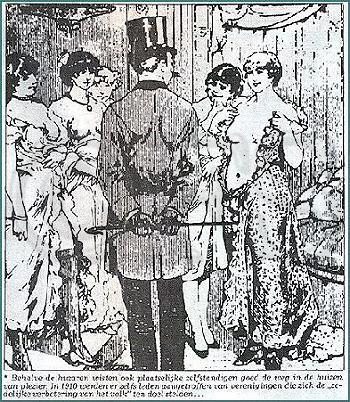 Dames van lichte zeden in het huis van plezier (Oud Venlo)